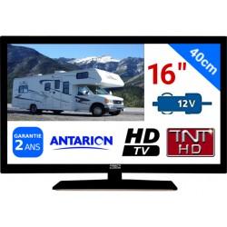 "ATV16HD - TÉLÉVISEUR LED 16"" 39,6cm HD 24V 12V ANTARION"