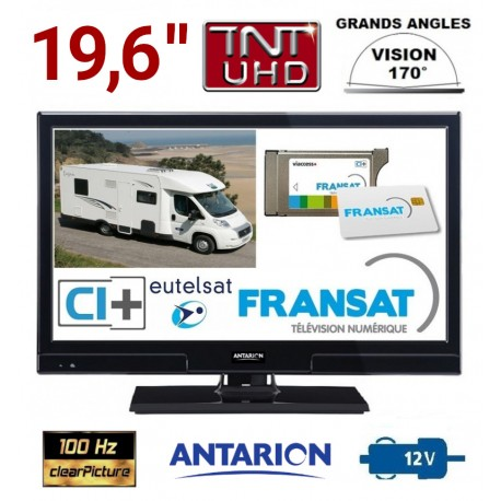"ATVLT20FRANSAT - TV ANTARION LED HD 19"" 49cm 12V SATELLITE + CARTE FRANSAT"