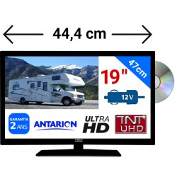 "ATVDVD19HD - COMBINÉ TV/DVD LED 19"" 47cm HD 24V 12V ANTARION"