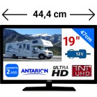 "ATV19HD - TÉLÉVISEUR LED 19"" 47cm HD 24V 12V ANTARION"