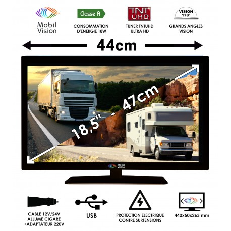 "MOBILVISION COMBINE TV / DVD 18,5"" 47cm - TVWS19"