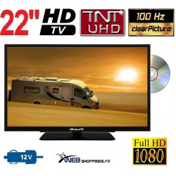 "MTV22DVD - COMBINÉ TV DVD TNTHD LED 22"" 55cm 12V"