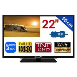 "MTV22 - TÉLÉVISEUR TNTHD LED 22"" 55cm 12V"