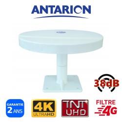 Antenne TV pour camping car camion fourgon aménagé omnidirectionnelle TNT TNTHD UHD UltraHD TNTUHD 38dB ANTARION