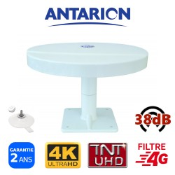Antenne TV ventouses pour camping car camion fourgon aménagé omnidirectionnelle Ultra HD TNTUHD 38dB ANTARION OMNIPROPLUS