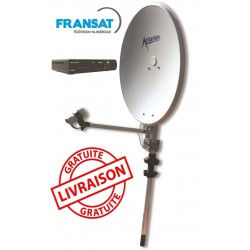 EASY65DEMF - ANTENNE SATELLITE 65CM MAT DEMODULATEUR FRANSAT