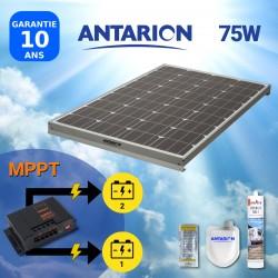 PAN75W2BAT - PANNEAU SOLAIRE 75W ANTARION - DOUBLE BATTERIE