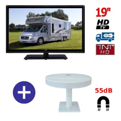 TELEVISEUR ATV19HD + ANTENNE OMNIVISION PIED AIMANTE