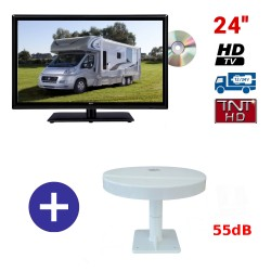 TELEVISEUR ATVDVD24HD + ANTENNE OMNIDIRECTIONNELLE