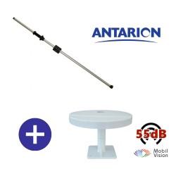 ANTENNE TV TNTUHD 55dB CAMPING CAR MOBILVISION + MAT ANTENNE 160CM