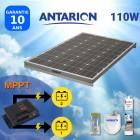 KIT PANNEAU SOLAIRE 110W  CAMPING CAR ANTARION -AVEC RÉGULATEUR MPPT DOUBLE BATTERIE - PAN110W2BATMPPT