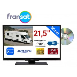 "TVLT22DVDFRANSAT - COMBINÉ TV/DVD LED 21,5"" 55cm HD 12V SATELLITE + CARTE FRANSAT"