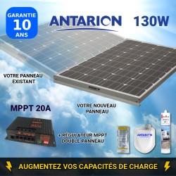 PAN130W2PAN - PANNEAU SOLAIRE 130W ANTARION - RÉGULATEUR MPPT DOUBLE PANNEAU