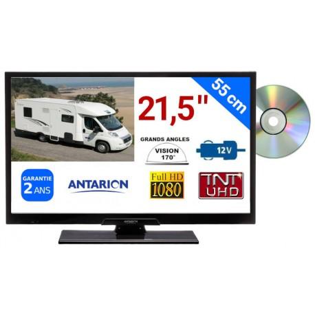 "TVLT22DVDSAT - COMBINÉ TV/DVD LED 21,5"" 55cm HD 12V SATELLITE (SANS LA CARTE FRANSAT)"