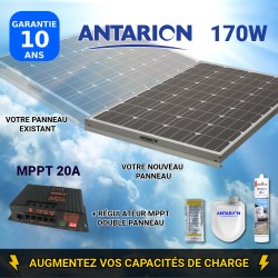 PAN160W2PAN - PANNEAU SOLAIRE 160W ANTARION - RÉGULATEUR MPPT DOUBLE PANNEAU