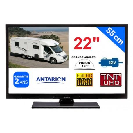 "TÉLÉVISEUR CAMPING CAR LED 22"" 55cm 12V HD TNTHD ATVLT22B2 ANTARION POUR CAMPING CAR - ATVLT22B2"