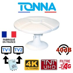 ANTENNE TV CAMPING CAR 40dB TNTHD OMNIDIRECTIONNELLE TONNA - OMNI TONNA