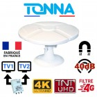 ANTENNE TV MAGNETIQUE AIMANTEE TONNA CAMPING CAR CAMION FOURGON VAN 40dB TNTHD OMNIDIRECTIONNELLE