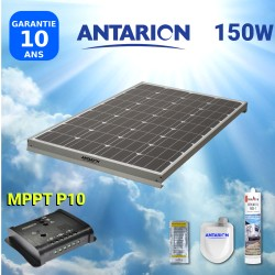 KIT PANNEAU SOLAIRE 150W ANTARION CAMPING CARAVEC RÉGULATEUR MPPT - PAN150WMPPT