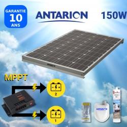 PAN150W2BAT - PANNEAU SOLAIRE 150W ANTARION - MPPT10A DOUBLE BATTERIE