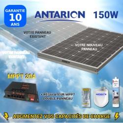 PAN75W2PAN - PANNEAU SOLAIRE 75W ANTARION - RÉGULATEUR MPPT DOUBLE PANNEAU