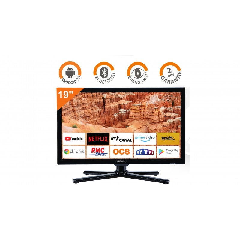 Smart Tv Pour Camping Car Camion Wifi Android 48cm Antarion Atv19smart