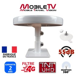 OMNI.T - ANTENNE 55dB TNTHD CAMION + PIED VENTOUSES