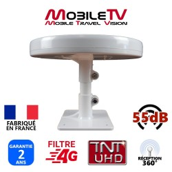 OMNI.T - ANTENNE 55dB TNTUHD CAMPING CAR OMNIDIRECTIONNELLE