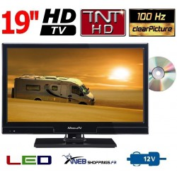 "MTV20DVD - COMBINÉ TV DVD TNTHD LED 19"" 49cm 12V"