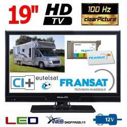 "MTV20SAT - TV LED HD 19"" 49cm 12V SATELLITE + CARTE FRANSAT"