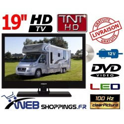 "ATVLTDVD20HD - COMBINÉ TV DVD TNTHD LED 19,5"" 49cm 12V"