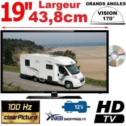 """MANN19DVDHD - COMBINÉ TV DVD TNTHD LED 19"""" 47cm 12V"""