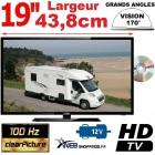 """MANN19DVDHD - COMBINÉ TV DVD MANN CAMPING CAR CAMION FOURGON TNTHD USB LED 19"""" 47cm 220V 12V"""