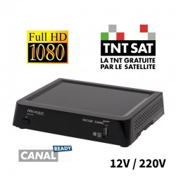 MS310IR - DEMODULATEUR SATELLITE TNTSAT HD CAMPING CAR 12V