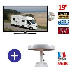 TELEVISEUR MANN 19DVDHD + ANTENNE OMNIDIRECTIONNELLE OMNI. T