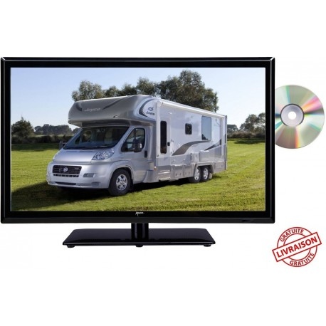 "ATVDVD24HD - COMBINÉ TV/DVD LED 24"" 61cm HD 24V 12V ANTARION"