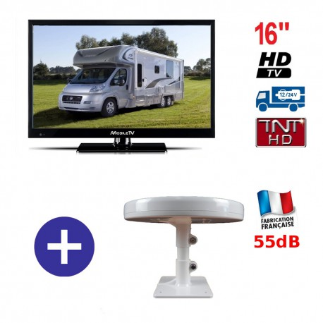 TELEVISEUR HRV16HD + ANTENNE OMNIDIRECTIONNELLE