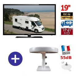 MANN19HD + ANTENNE OMNIDIRECTIONNELLE PIED VENTOUSE
